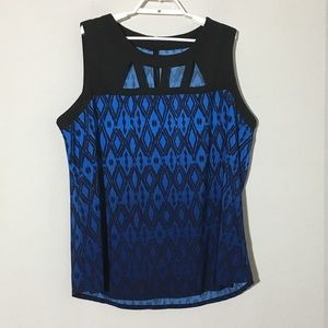 Lane Bryant Cutout Sleeveless Blouse Blue Sz 18/20